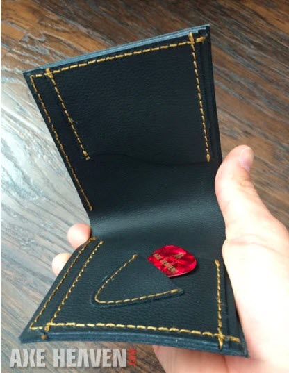 Electric Guitar Wallet Red ST – Handmade from Genuine Leather