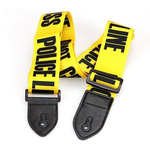 Guitar & Bass Belt Strap Yellow Adjustable Polyester with PU Leather Ends