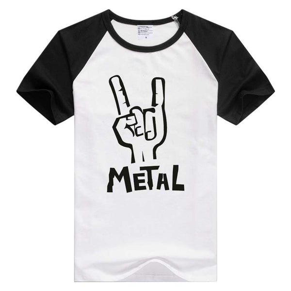 Heavy Metal Rock short sleeve casual Men's & Women's T-shirt
