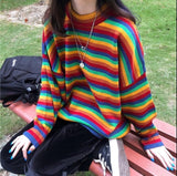 Rainbow Soft Grunge Sweater