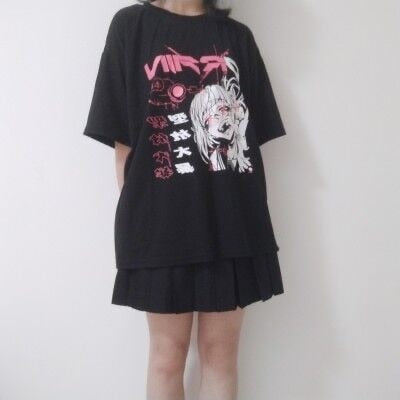 Anime Over-Sized Graphic Tee