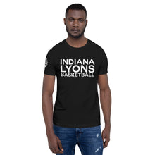 Load image into Gallery viewer, Indiana Lyons Basketball Stacked w/Emblem on Sleeve