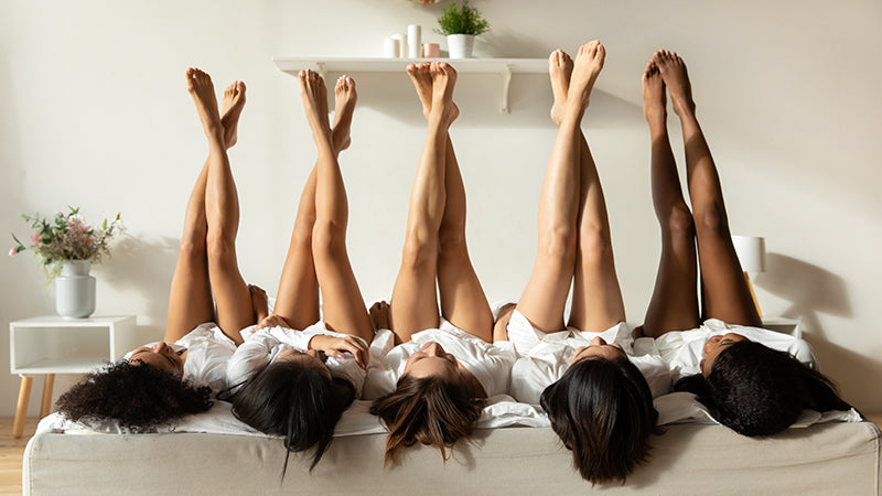 Women's legs with different skin and hair types are more prone to ingrown hairs