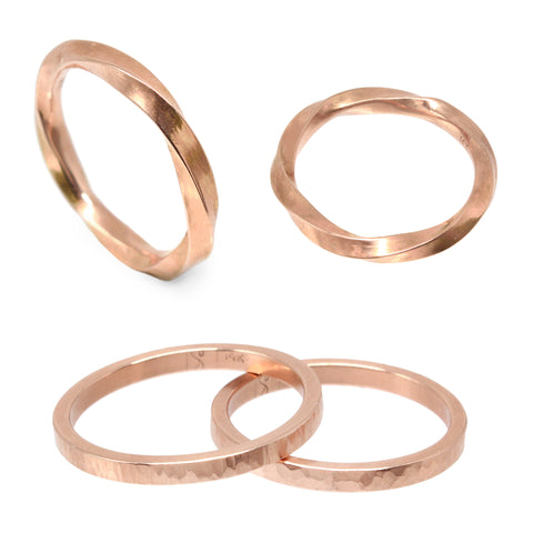 Custom Wedding Bands 14K Rose Gold The Smithery