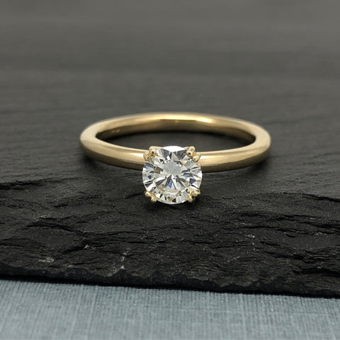 Custom Engagement Ring Recycle Yellow Gold Diamond The Smithery