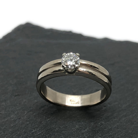 Custom Engagement and Wedding Band Recycled Gold The Smithery