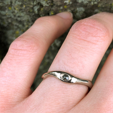 Custom Engagement Ring Recycled Gold Rose Cut Diamond The Smithery