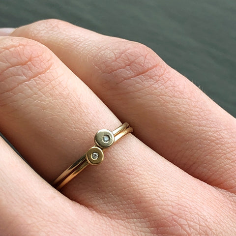 Custom Recycled Gold Rings Diamonds The Smithery