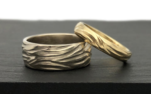 Custom Wedding Bands Recycled Gold Textured Wedding Band The Smithery
