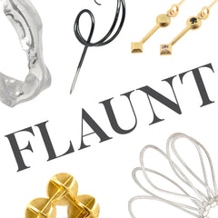 FLAUNT a showcase of contemporary earrings.