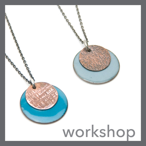 Enamel and Metal Dot Necklace