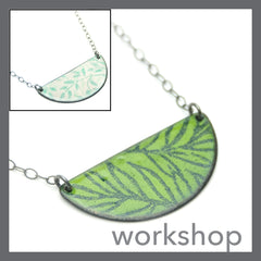 Enamel Patterned Overlay Necklace