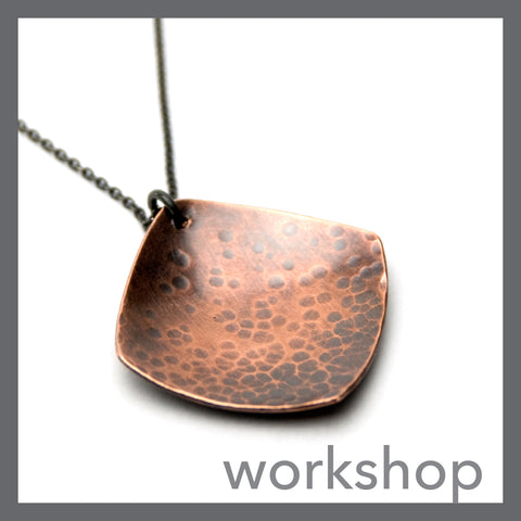 Hammer Texture Domed Necklace