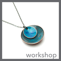 Layered Domed Enamel Necklace