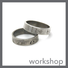 Stamped Sterling Band Ring