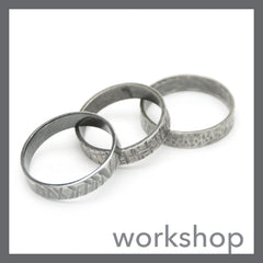 Textured Sterling Silver Band Ring Class