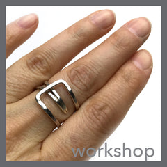 Tapered Sterling Ring