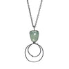 Arrow Necklace - Dark Sketch/Chalcedony