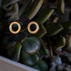 Simple Oval Studs - Matte 14K Vermeil