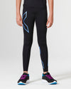 Core Girls Compression Tights - Black/Blue