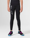 Core Girls Compression Tights - Black/Silver