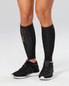 Light Speed Compression Calf Guards - Black/Gold