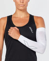 Flex Compression Arm Sleeve (Single) - White/Grey