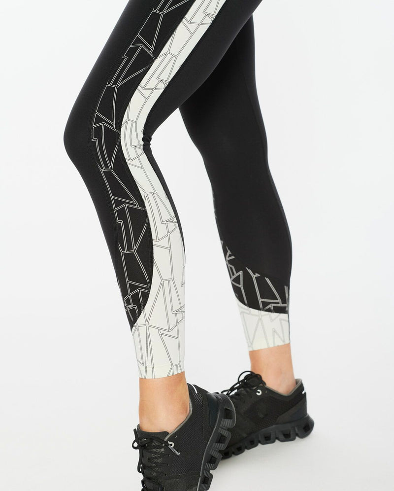 Fitness Mid-Rise Line Up Compression Tights