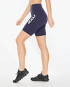 Form Stash Hi-Rise Bike Shorts - Maritime Blue/White
