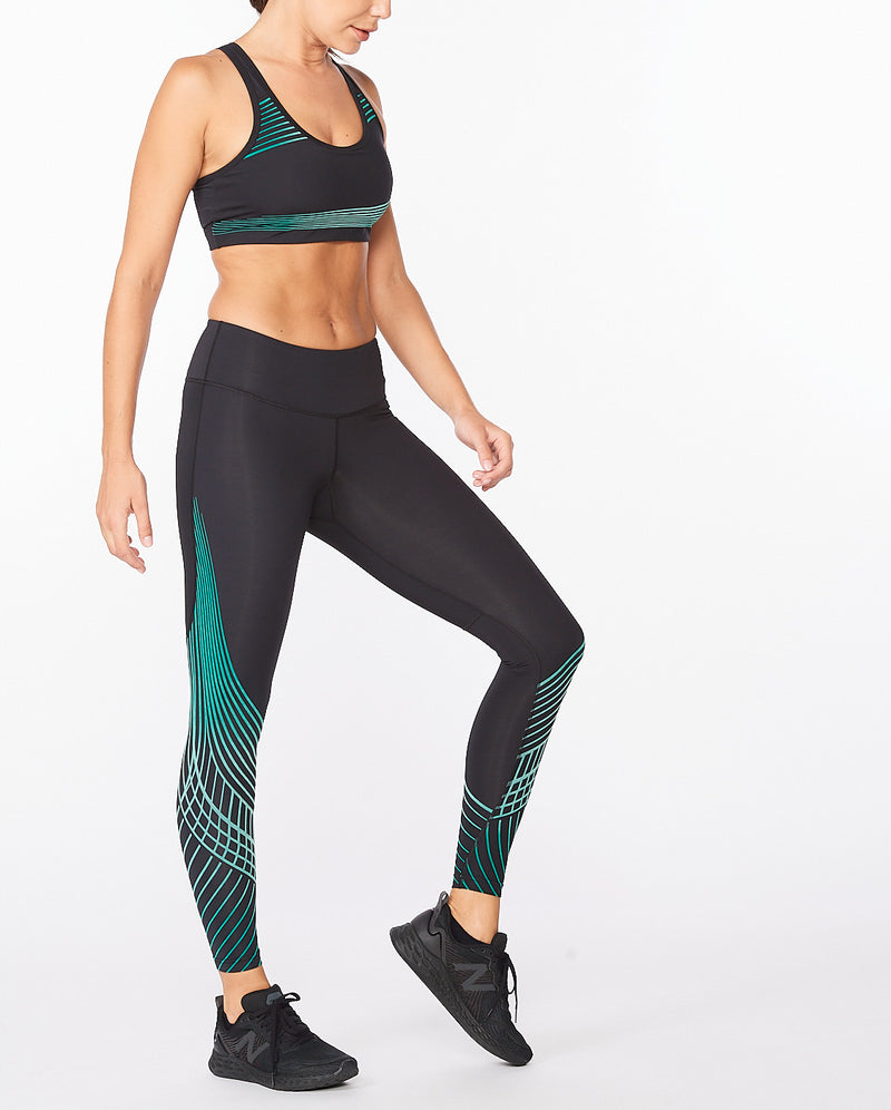 Motion Texture Mid-Rise Compression Tights