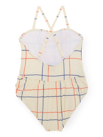 BOBO CHOSES LINES SWIMSUIT / CREAM