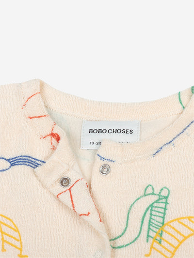 BOBO CHOSES PLAYGROUND TERRY FLEECE CARDIGAN / BABY
