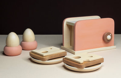 HANDMADE Wooden TOASTER SET