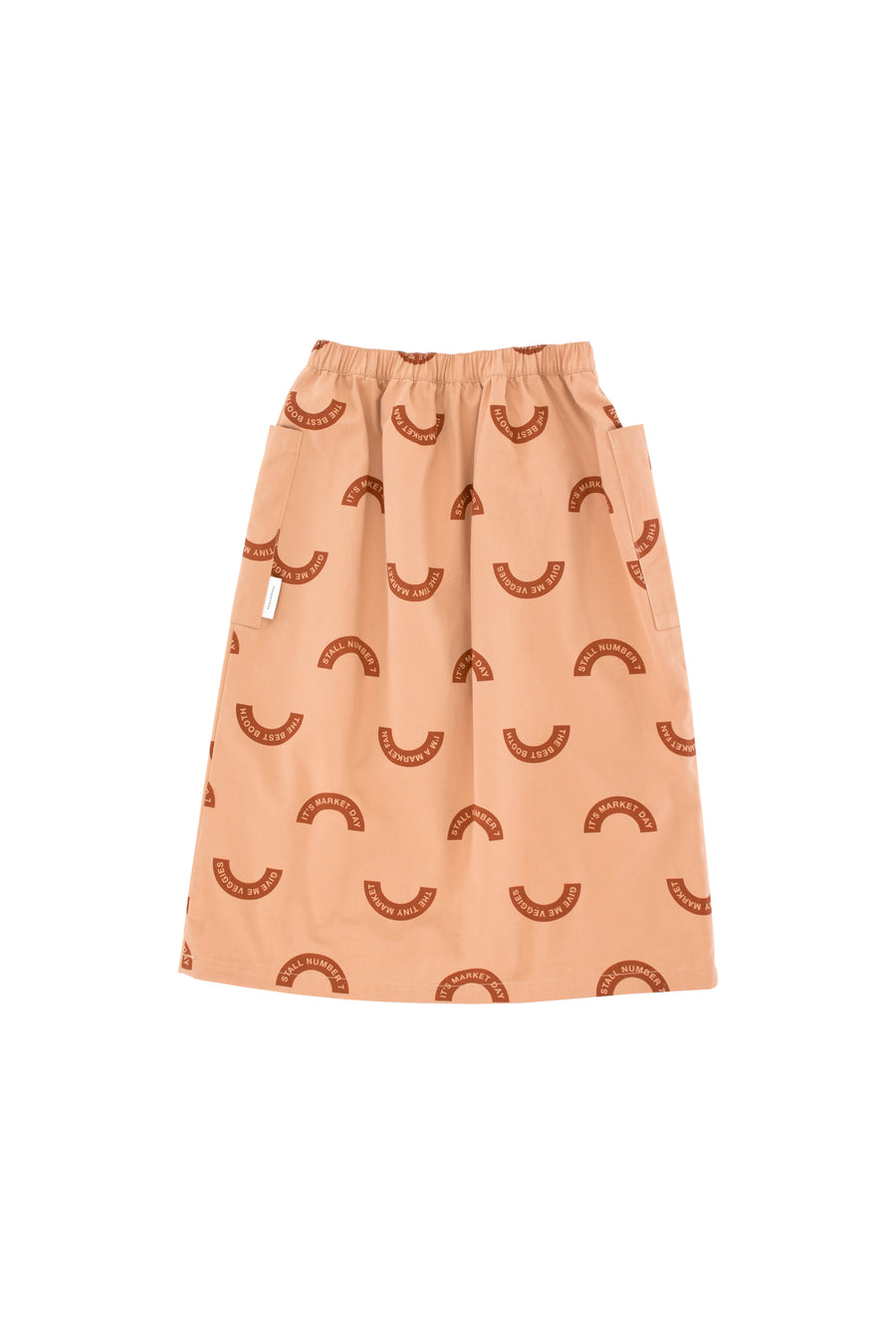 TINY COTTONS MARKET WV MIDI SKIRT / DARK NUDE