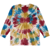 TINY WHALES BE HAPPY MAN LS TIE DYE TEE
