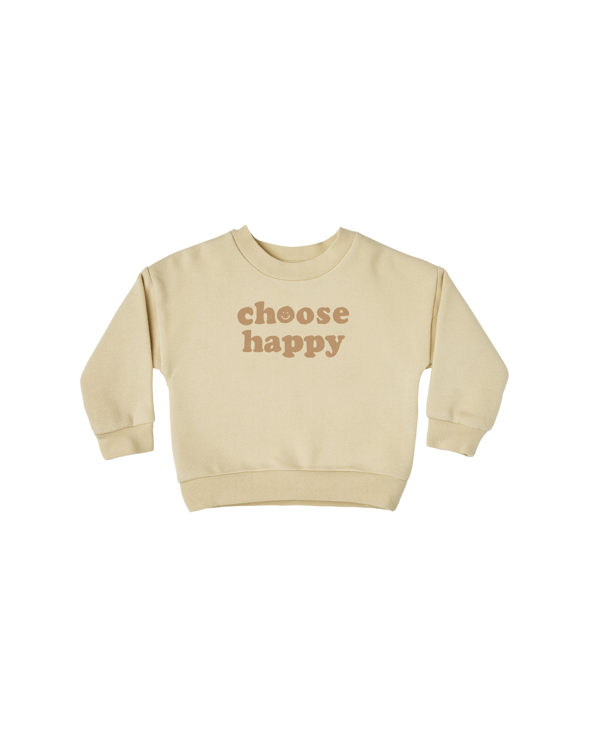 RYLEE + CRU CREWNECK / CHOOSE HAPPY