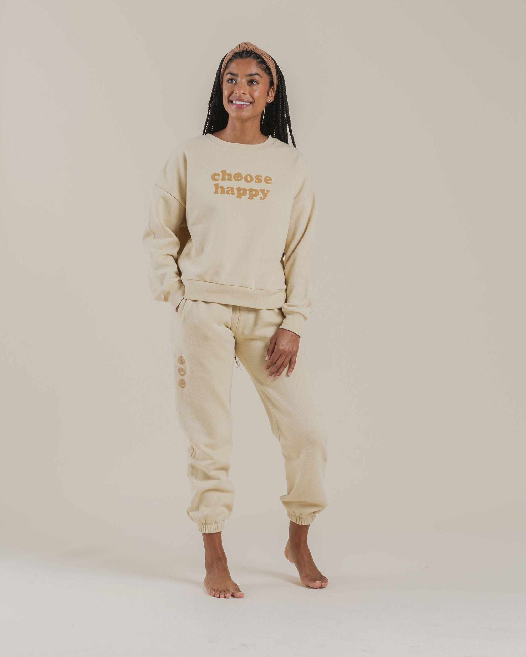 WOMEN'S CREWNECK PULLOVER / CHOOSE HAPPY
