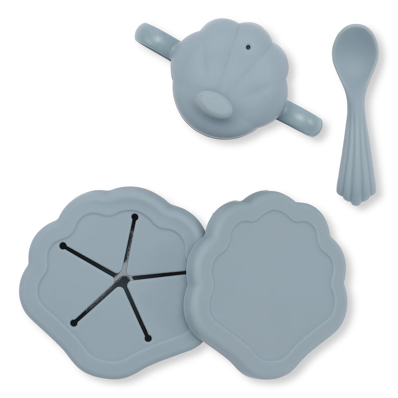 KONGES SILICONE CLAM SET / LIGHT BLUE