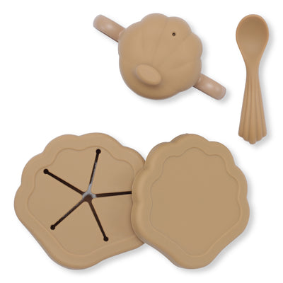 KONGES SILICONE CLAM SET / TERRA COTTA
