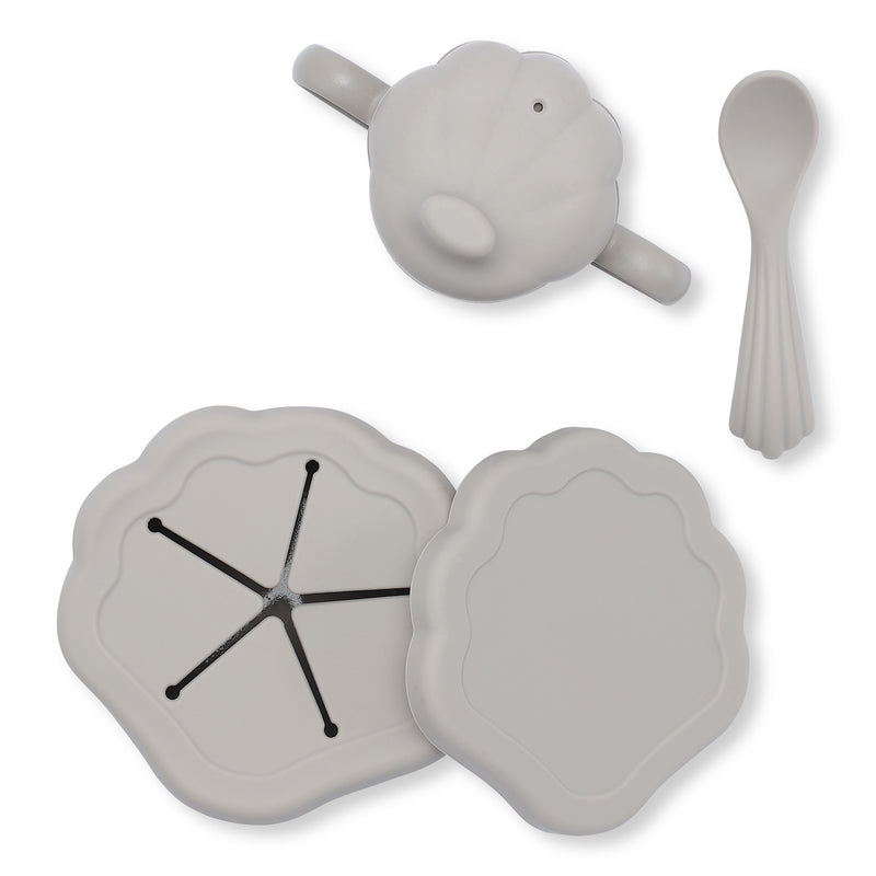 KONGES SILICONE CLAM SET / WARM GREY