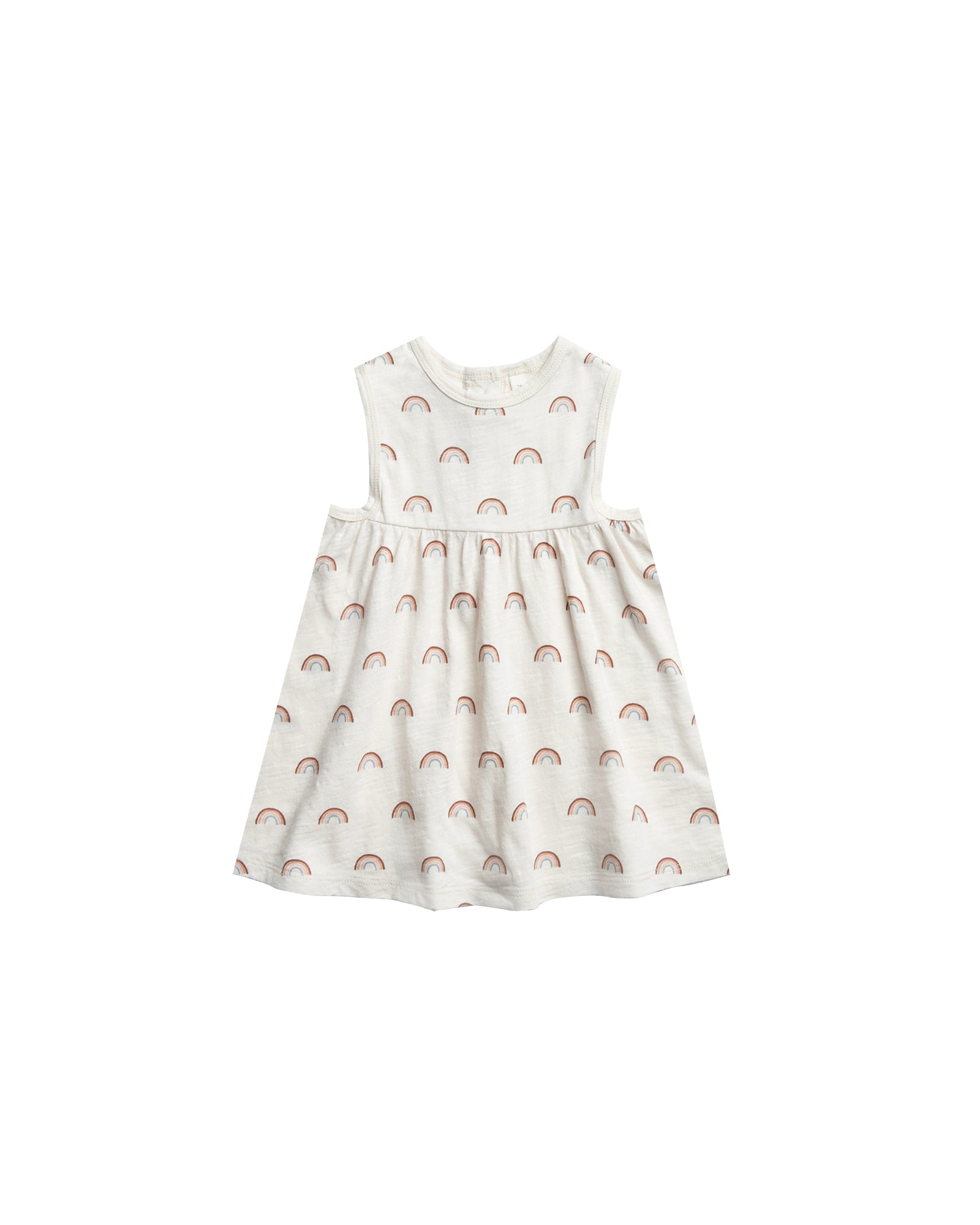 RYLEE + CRU RAINBOW LAYLA DRESS / IVORY
