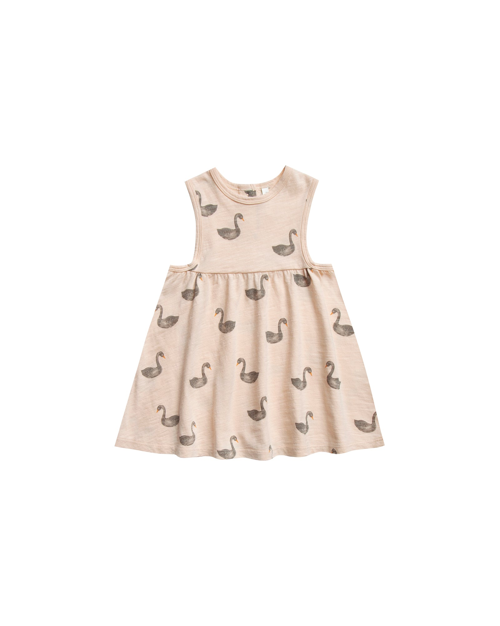 RYLEE + CRU SWANS LAYLA DRESS / soft peach