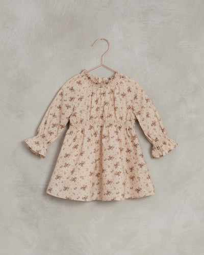 NORALEE geranium CHLOE DRESS / LIGHT PEACH