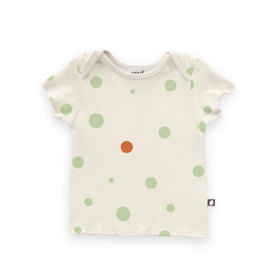 OEUF BABY TEE SHIRT / BURNT ORANGE DOTS