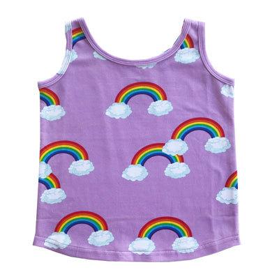 ROMEY LOVES LULU TANK TOP / PURPLE RAINBOWS
