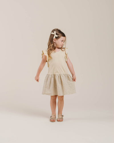 RYLEE + CRU COURY DRESS / GRID BUTTER