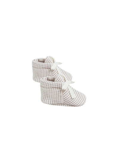 QUINCY MAE BABY BOOTIES / FOG STRIPE