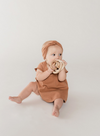 QUINCY MAE SHORT SLEEVE BABY DRESS / RUST