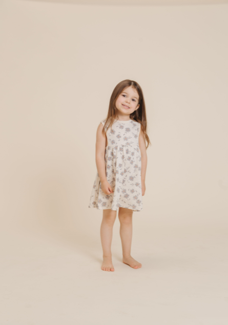 RYLEE + CRU DAISIES LAYLA DRESS / NATURAL