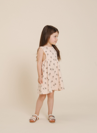 RYLEE + CRU ICE CREAM LAYLA DRESS / SOFT PEACH
